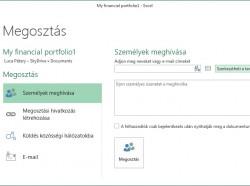 Excel 2013: Munkafüzet megosztása