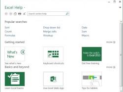 Excel 2013: Új súgó