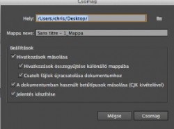 Illustrator CS6: Csomagfájlok