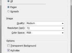 InDesign CS6: PNG exportálása