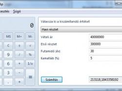 Windows 7: Jelzálog számítása