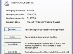 Windows XP: Eszközmeghajtók visszaállítása